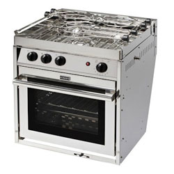 Force 10 3-Burner Euro-Compact Stove Propane Gas Stove with Oven
