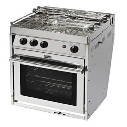 Force 10 3-Burner Euro-Standard Stove Propane Gas Stove with Oven