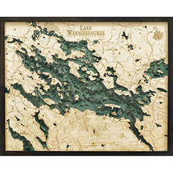 Wood Chart Lake Winnipesaukee - Internet Orders Only
