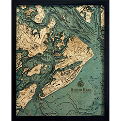 Wood Chart Hilton Head Island - Internet Orders Only