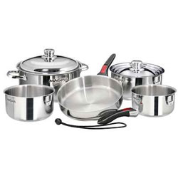 Magma Stainless Steel Induction Gourmet Cookware Set - 10 Piece