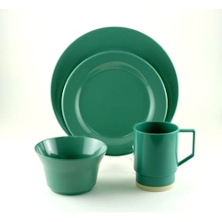 Galleyware Melamine Dinnerware Large Box Set - Solid Seafoam Green