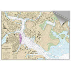 Maptech Decorative Nautical Charts - Boston Inner Harbor