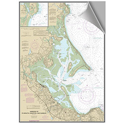 Maptech Decorative Nautical Charts - Plymouth / Duxbury