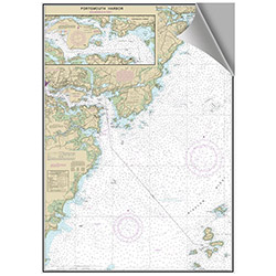 Maptech Decorative Nautical Charts - Portsmouth / Kittery