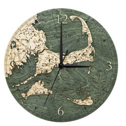 Wood Chart Cape Cod Wall Clock