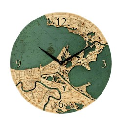 Wood Chart New Orleans Wall Clock
