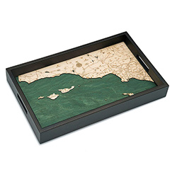 Wood Chart Santa Barbara / Channel Islands Serving Tray