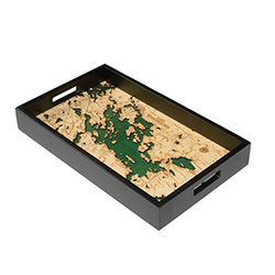 Wood Chart Lake Winnipesaukee Serving Tray