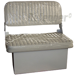 Cushioned Bench Seat with Folding Backrest