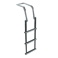 Telescoping Folding Ladder for Inflatable Boats