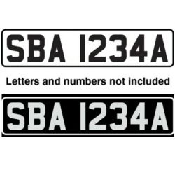 Bernard Stick-On Vessel Registration Number Plates