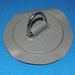 Defender Inflatable Boat PVC D-Ring - 35 mm Dark Gray