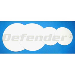 Defender Inflatable Boat CSM (Hypalon) Repair Patches - 9cm White
