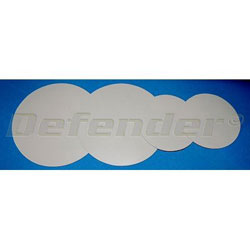 Defender Inflatable Boat Repair Patches (2) 9 cm dia., (2) 13 cm dia. Gray