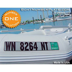 Boat Number Registration Plates for Inflatable Boats