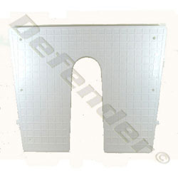 Exterior Transom Protection Plate - Wedge