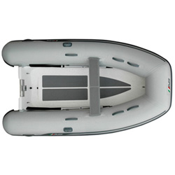 "AB 9 VL Rigid Hull Inflatable (RIB) 9' 6"", Gray Hypalon, 2019"