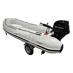 Trifecta Combo, 15' PVC RIB with 30HP Tiller & Bunk Trailer, Launch Ready