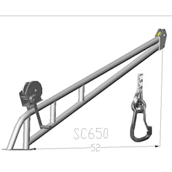 St Croix Model 650 Removable Davit System with Drum Winch