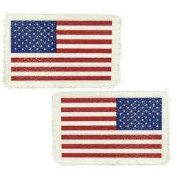Boat Number Plate Inflatable Boat American Flag Emblems - Hypalon/CSM