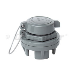Leafield Marine A7 Inflation / Deflation Valve, Color: Gray