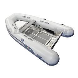 "AB 10 AL Aluminum Hull Inflatable (RIB) 10' 6"", Gray Hypalon, 2019"