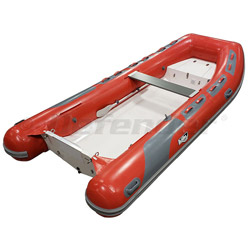 "Achilles HB-385DX Rigid Hull (RIB) 12' 8"", Red Hypalon, 2020"