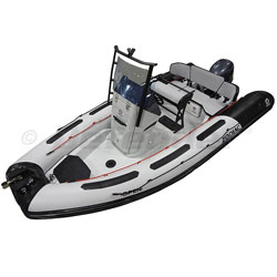 Zodiac Open 5.5 With Yamaha F115 EFI 4-Stroke - Black/Gray PVC