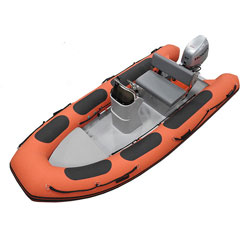 Defender RIB 430 Rigid Hull Inflatable (RIB) w/ Honda BF40 - Red