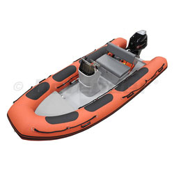 Defender RIB 430 Rigid Hull Inflatable (RIB) w/ Tohatsu MFS40 - Red