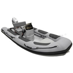 Defender RIB 430 Rigid Hull Inflatable (RIB) w/ Honda BF40 - Gray