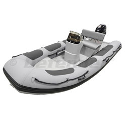 Defender RIB 430 Rigid Hull Inflatable (RIB) w/ Tohatsu MFS40 - Gray