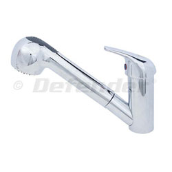 Scandvik Compact Galley Faucet with Pull-Out Sprayer