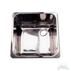 Scandvik Mirror Finish Stainless Steel Square Sink