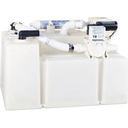 Dometic 28 HTS-T Waste Water Holding Tank System with Pump - 28 Gallons