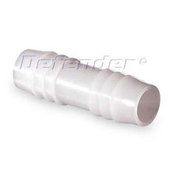 White Nylon Hose Connector - Barb to Barb