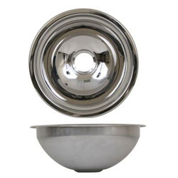 Scandvik Mirror Finish Stainless Steel Round Basin