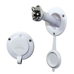 Scandvik Recessed Transom Shower with Push-Button Sprayer (10750)