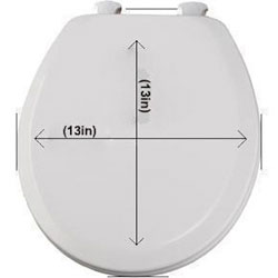 Groco TC-50 Replacement Compact Toilet Seat with Cover