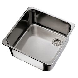 Ambassador Ultra-Mirror Finish Stainless Steel Square Sink