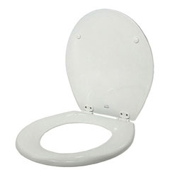 Jabsco Replacement Toilet Seat and Lid Set with Hinges - Standard Household