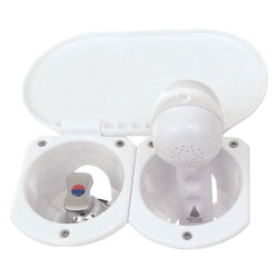 Scandvik Recessed Euro Trigger-Handle Transom Shower with Mixing Valve