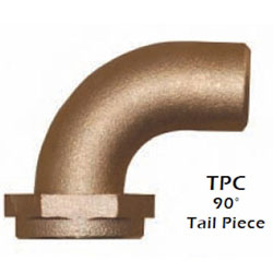 Groco TPC-Series 90° Tail Piece