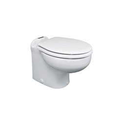 Raritan Marine Elegance Toilet w/ Vortex-Vac - Fresh/Raw - Straight Back - 24V