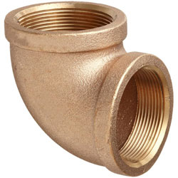 Bronze Pipe 90-deg Elbow Female/Female - 2