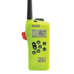 ACR SR203 VHF GMDSS Survival Radio - Emergency Use Only