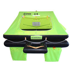 Superior Life-Saving Equipment Offshore Stream Liferaft 4-Person / Hard Case