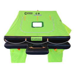 Superior Life-Saving Equipment ISO Wave Racer Liferaft 6-Person / Valise
