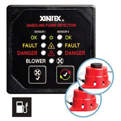 FireBoy - Xintex Gasoline Fume Detector with Blower Control - 2 Channel